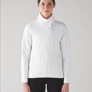 Lululemon Fleece Be True Jacket White 12